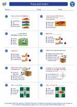 Science - First Grade - Worksheet: Force and motion