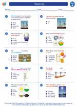 Science - First Grade - Worksheet: Electricity
