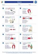 Science - First Grade - Worksheet: Magnets