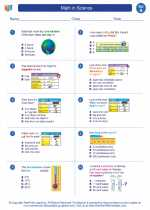 Science - First Grade - Worksheet: Math in Science - 1st grade level