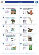 Science - Second Grade - Worksheet: Animals