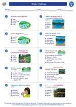 Science - Second Grade - Worksheet: Water Habitats