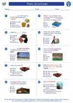 Science - Second Grade - Worksheet: Rocks, Soil and water
