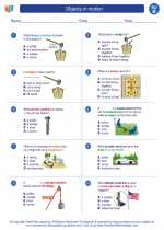 Science - Second Grade - Worksheet: Objects in motion
