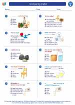 Science - Second Grade - Worksheet: Comparing matter