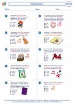 Mathematics - Fifth Grade - Worksheet: Multiplication