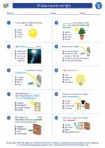 Science - Second Grade - Worksheet: All about sound and light