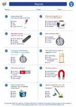 Science - Second Grade - Worksheet: Magnets