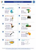 Science - Second Grade - Worksheet: Science in our world