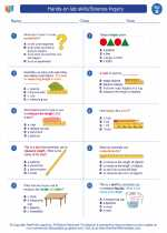 Science - Second Grade - Worksheet: Hands-on lab skills/Science Inquiry