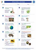 Science - Second Grade - Worksheet: Did you know... 2nd Grade