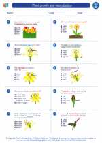 Science - Fourth Grade - Worksheet: Plant growth and reproduction
