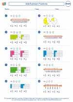 Mathematics - Fifth Grade - Worksheet: Add/Subtract Fractions