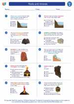 Science - Fourth Grade - Worksheet: Rocks and minerals