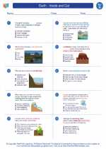 Science - Fourth Grade - Worksheet: Earth - Inside and Out