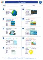 Science - Fourth Grade - Worksheet: Earth's Waters