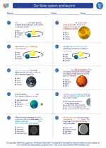 Science - Fourth Grade - Worksheet: Our Solar system and beyond