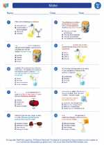 Science - Fourth Grade - Worksheet: Matter