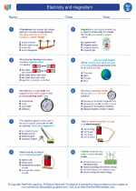 Science - Fourth Grade - Worksheet: Electricity and magnetism