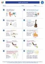 Science - Fourth Grade - Worksheet: Light and sound