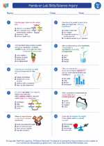 Science - Fourth Grade - Worksheet: Hands-on Lab Skills/Science Inquiry - 4th grade
