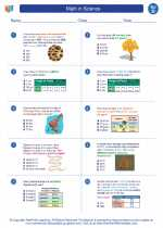 Science - Fourth Grade - Worksheet: Math in Science - 4th grade