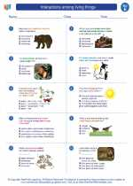 Science - Fifth Grade - Worksheet: Interactions among living things