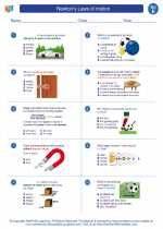Science - Fifth Grade - Worksheet: Newton's Laws of motion