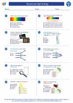 Science - Fifth Grade - Worksheet: Sound and light energy