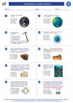 Science - Sixth Grade - Worksheet: Introduction to earth science