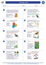 Science - Sixth Grade - Worksheet: Diversity of life