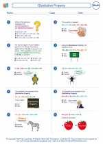 Mathematics - Sixth Grade - Worksheet: Distributive Property