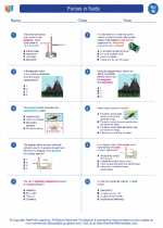 Science - Eighth Grade - Worksheet: Forces in fluids