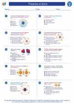 Science - Eighth Grade - Worksheet: Properties of atoms