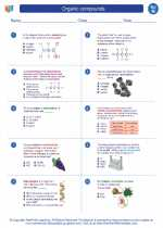 Science - Eighth Grade - Worksheet: Organic compounds