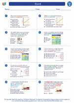 Science - Eighth Grade - Worksheet: Sound