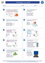 Science - Seventh Grade - Worksheet: Technology in our world