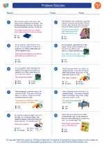 English Language Arts - Third Grade - Worksheet: Problem/Solution