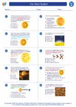 Science - Eighth Grade - Worksheet: Our Solar System