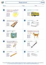 Mathematics - Fourth Grade - Worksheet: Measurement