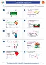 English Language Arts - Fourth Grade - Worksheet: Capitalization/Punctuation