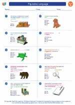 English Language Arts - Seventh Grade - Worksheet: Figurative Language