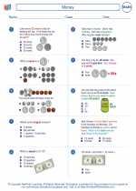 Mathematics - Second Grade - Worksheet: Money