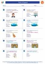 English Language Arts - Seventh Grade - Worksheet: Parts of Speech