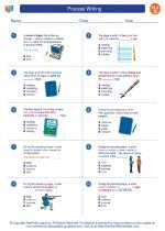 English Language Arts - Seventh Grade - Worksheet: Process Writing