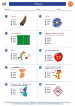 English Language Arts - Third Grade - Worksheet: Phonics