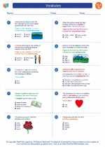 English Language Arts - Seventh Grade - Worksheet: Vocabulary