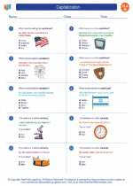 English Language Arts - Eighth Grade - Worksheet: Capitalization