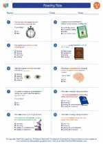 English Language Arts - Eighth Grade - Worksheet: Reading Rate