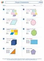 Mathematics - Fifth Grade - Worksheet: Polygon Characteristics